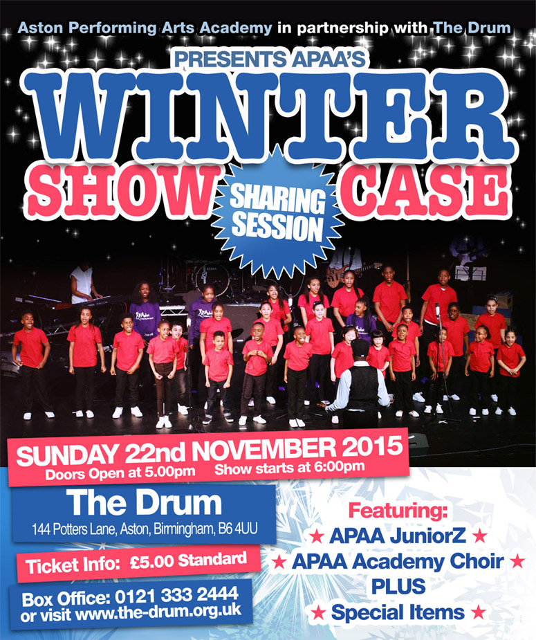 aston performing arts academy winter showcase